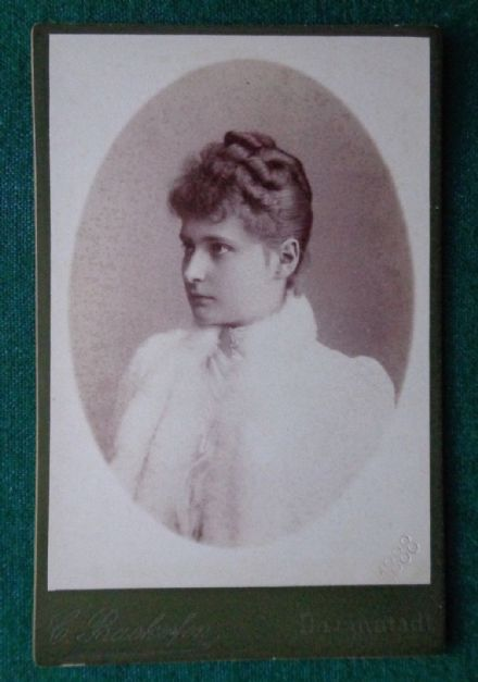 Antique Backofen Darmstadt Cabinet Photo Tsarina Alexandra Alix Imperial Russia